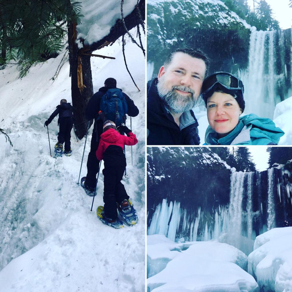 Snowshoeing Tamanawas Falls Trail