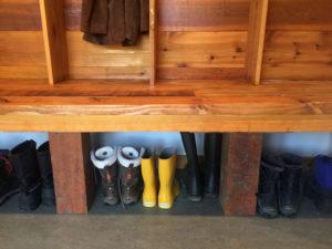 Mudroom Lockers Using Reclaimed Wood