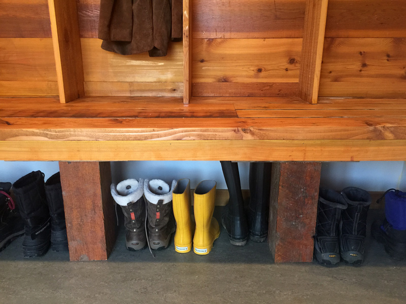 Reclaimed wood mudroom lockers diy copper apple farm mt for Reclaimed wood oregon